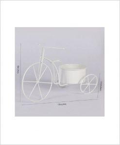 Buy Metal Cycle Planter White Dia
