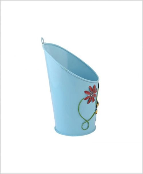 Buy Metal Half Moon Planter Blue Dia