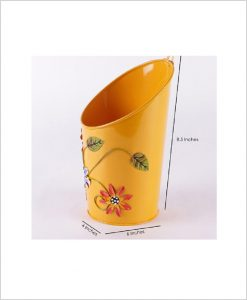 Buy Metal Half Moon Planter Yellow Dia