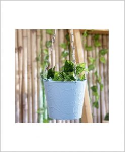 Buy Metal Hanging Bucket Planter Blue