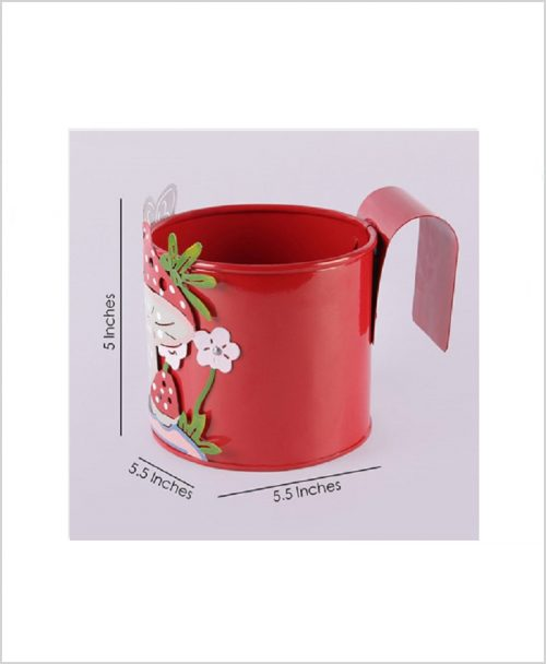 Buy Metal Mushroom Planter Red Dia
