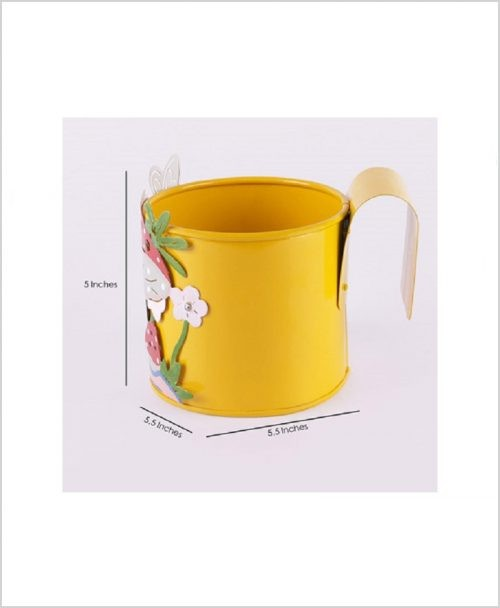 Buy Metal Mushroom Planter Yellow Dia