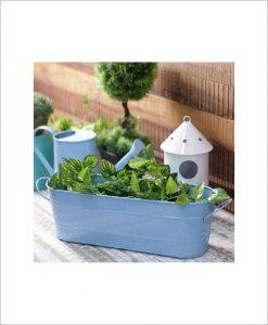Buy Metal Oval Planter Big Blue