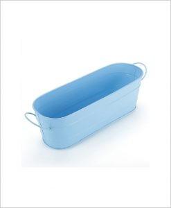 Buy Metal Oval Planter Big Blue Dia