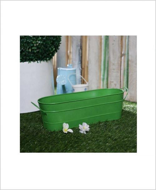 Buy Metal Oval Planter Big Green