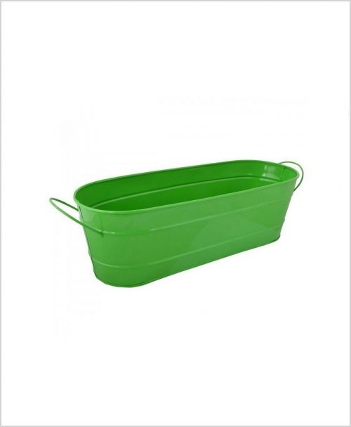 Buy Metal Oval Planter Big Green Dia