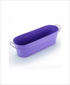 Buy Metal Oval Planter Big Purple Dia