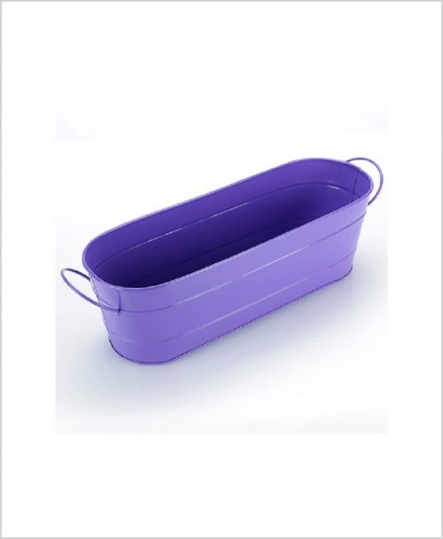 Buy Metal Oval Planter Big Purple Dia