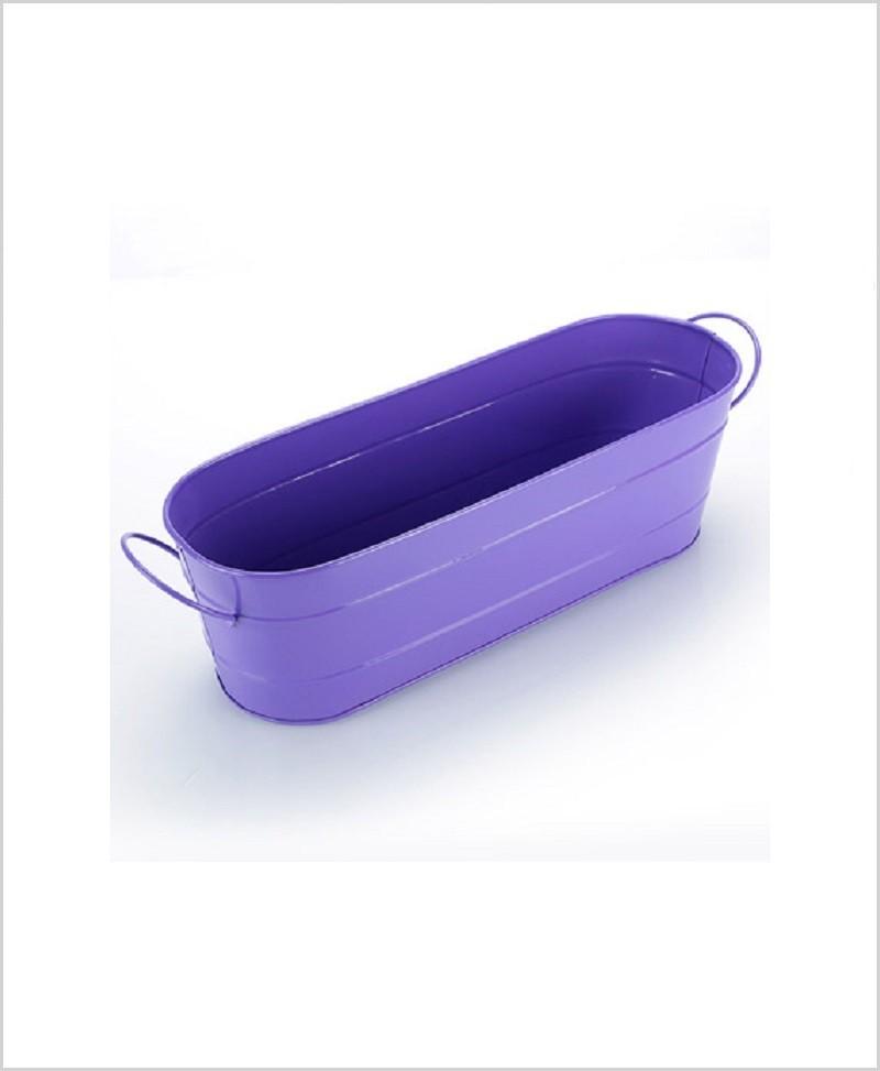 Metal Oval Planter Big Purple