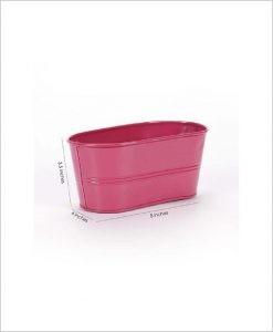 Buy Metal Oval Planter Pink Dia