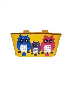 Buy Metal Oval Railing Owl Planter Yellow