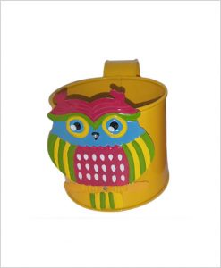 Buy Metal Owl Planter Yellow