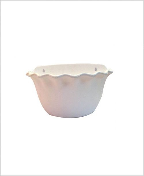 Buy Plastic 12 inch Wall Hanging Pot (White Color)