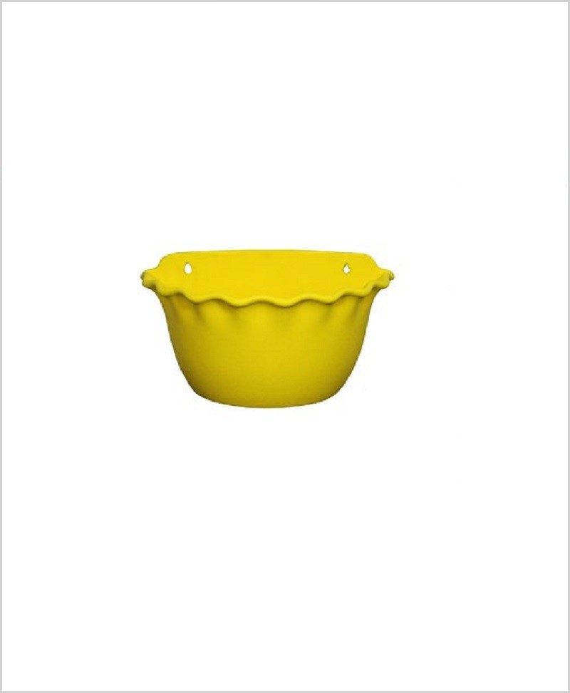 Buy Plastic 12 inch Wall Hanging Pot (Yellow Color)