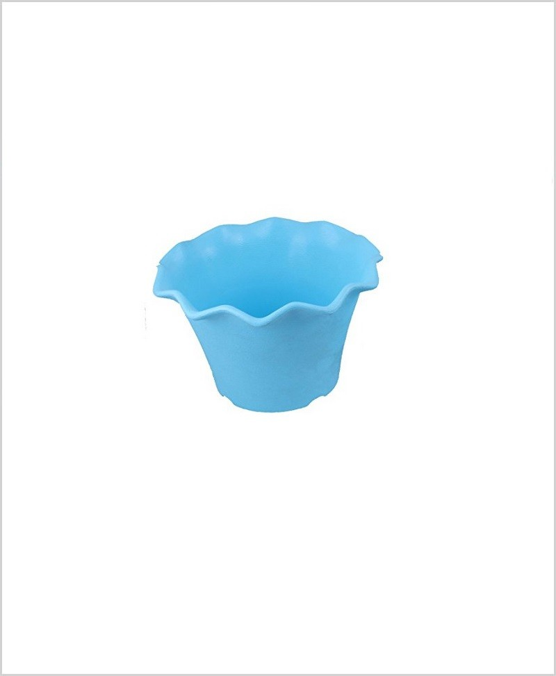 Buy Plastic 5 inch Blossom Table Pot (Blue Color)