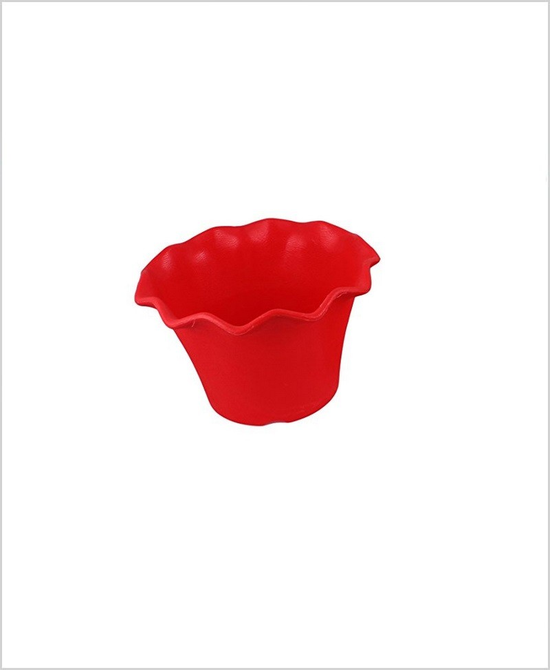 Buy Plastic 5 inch Blossom Table Pot (Red Color)
