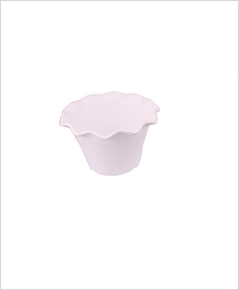 Buy Plastic 5 inch Blossom Table Pot (White Color)
