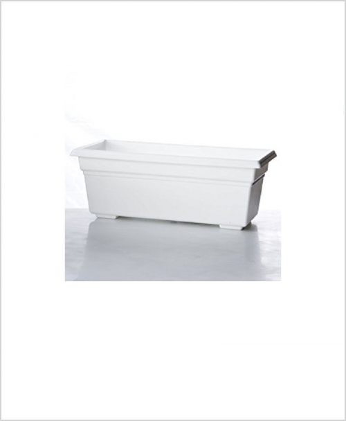 Buy Plastic Rectangular Planter (White Color)