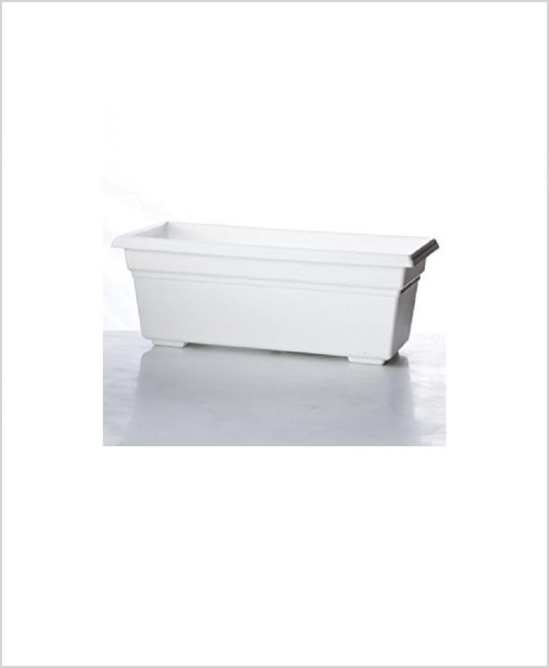 Buy Plastic Rectangular Planter (White Color)