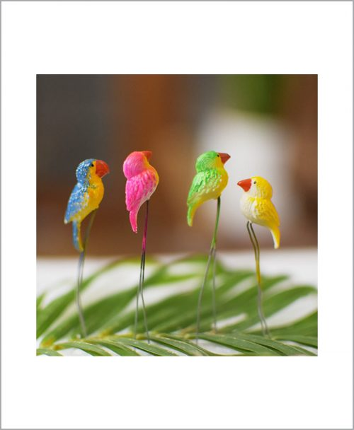Garden Miniature Weaver Birds (Set of 4 Colored Weaver Birds)