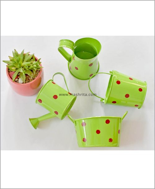 Buy Metal 4 Kids Planters Set Green
