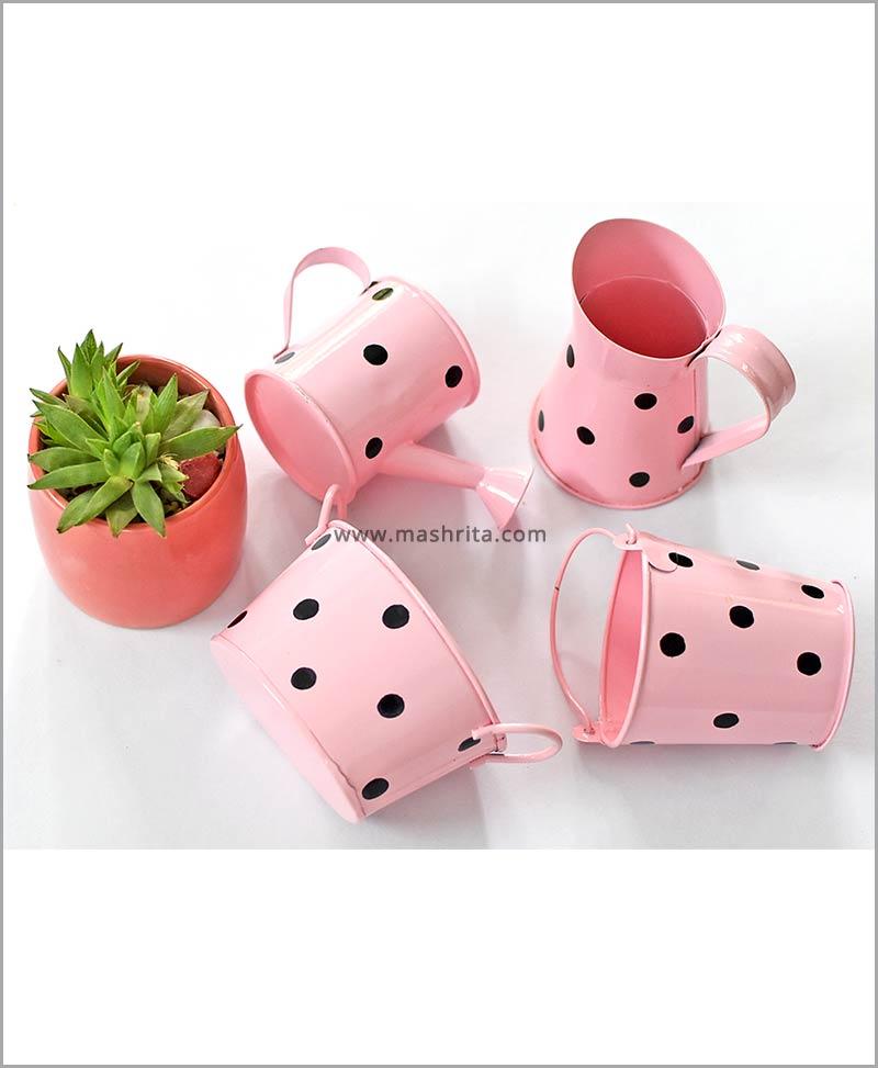 Metal 4 Kids Planters Set Pink