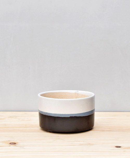 Ceramic Bonsai Tray Round 7 inch Black 2