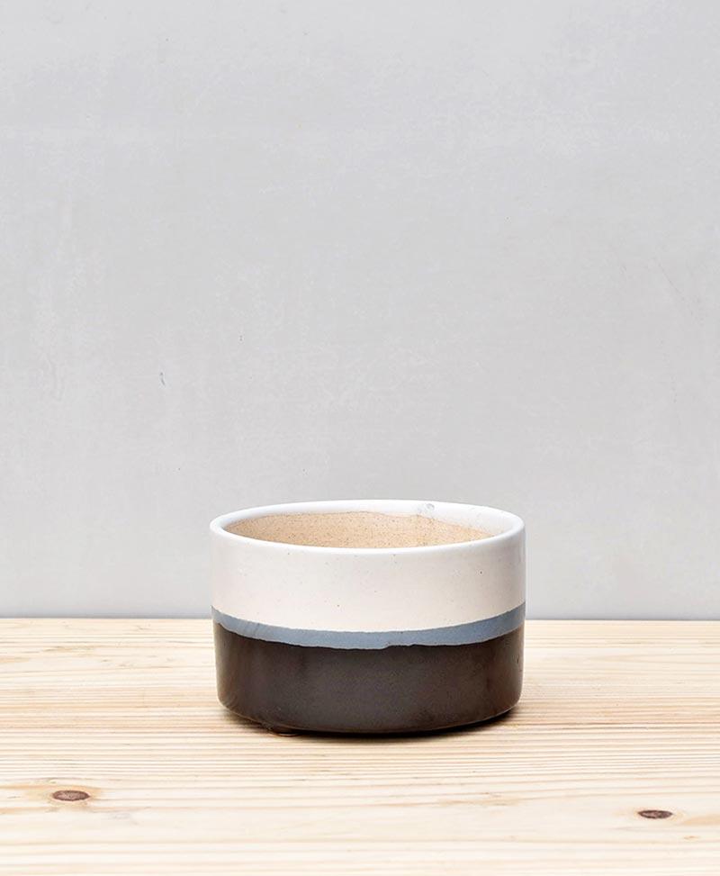 Ceramic Bonsai Tray Round 5 inch Black