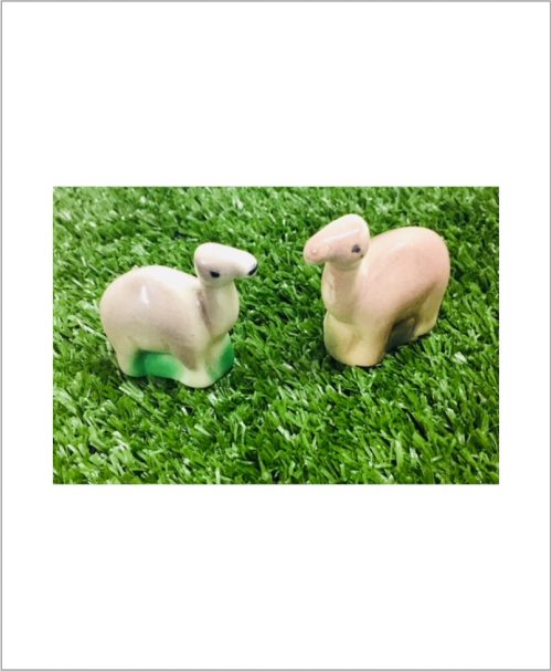 Garden Miniature Camels (Set of 2 Ceramic Camels)