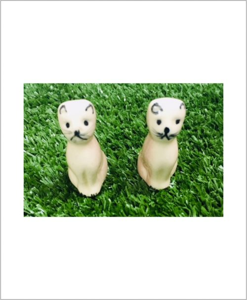 Garden Miniature Cats (Set of 2 Ceramic Cats)