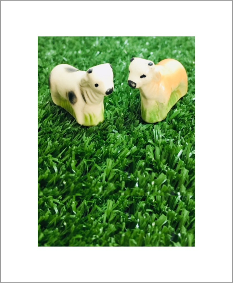 Garden Miniature Cows (Set of 2 Ceramic Cows)