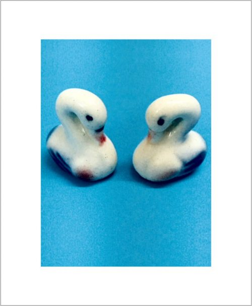 Garden Miniature Ducks (Set of 2 Ceramic Ducks)