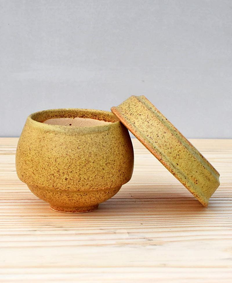 Ceramic Egg Pot 2.5 inch Pastel Green