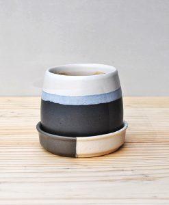 Ceramic Jar Pot 3 inch Black 2