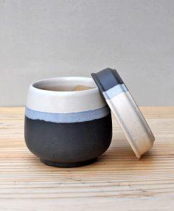 Ceramic Jar Pot 3 inch Black 3