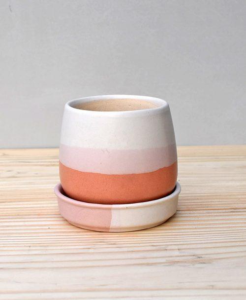 Ceramic Jar Pot 3 inch Coral 2