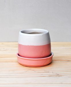 Ceramic Jar Pot 3 inch Pastel Pink 2