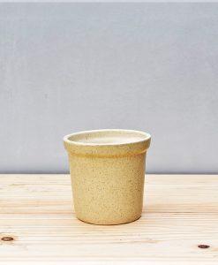 Ceramic Rim Pot 4 inch Beige 1