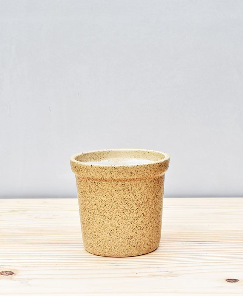 Ceramic Rim Pot 4 inch Brown