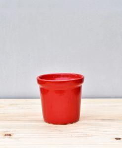 Ceramic Rim Pot 4 inch Red 1