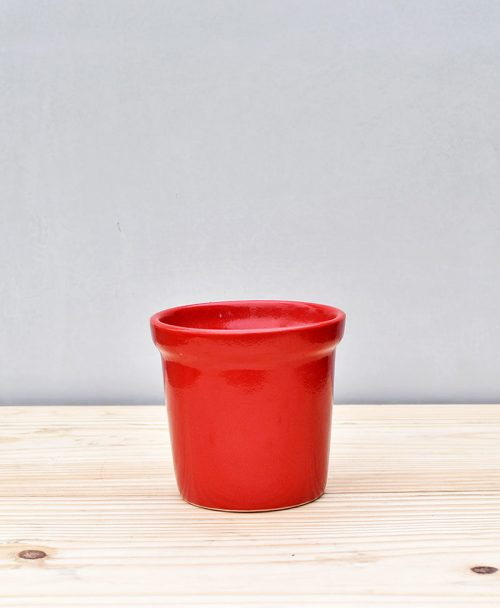 Ceramic Rim Pot 4 inch Red 1