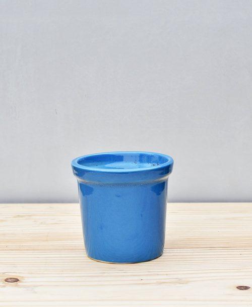 Ceramic Rim Pot 4 inch Sky Blue 1