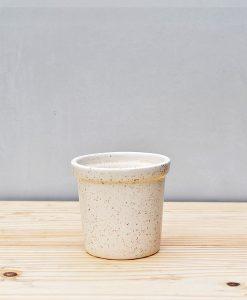 Ceramic Rim Pot 4 inch White 1
