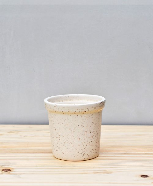 Ceramic Rim Pot 4 inch White 1