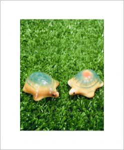 Garden Miniature Tortoises (Set of 2 Ceramic Tortoises)