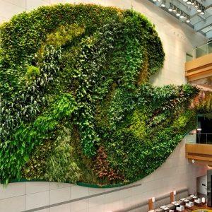 Cloth Felt Green Wall