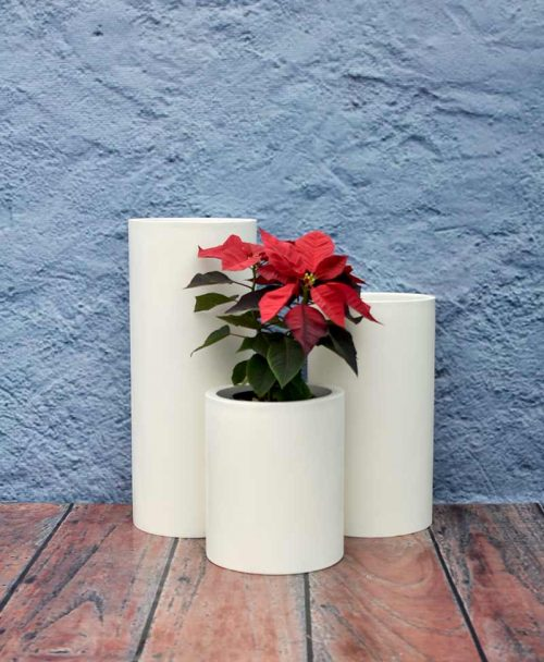 Compact Cylindrical Planters