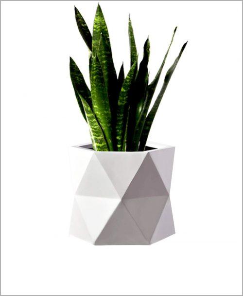 Decorative Fiber Planter 14 inch Diamond Shape Long