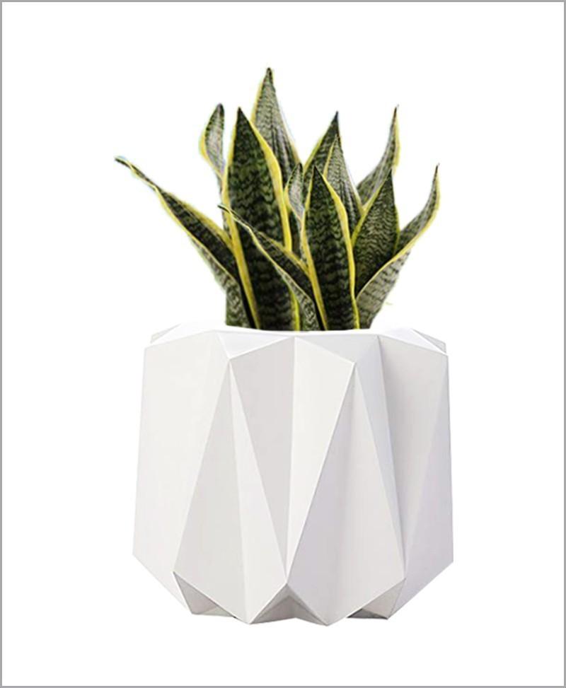 Decorative Fiber Planter Origami Shape 24 Inch