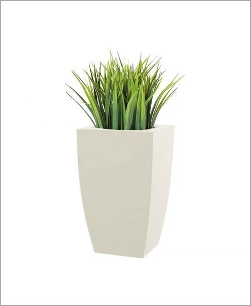 Semi Square Shape Fiber Planter 18 inch, Indoor - Outdoor Planter